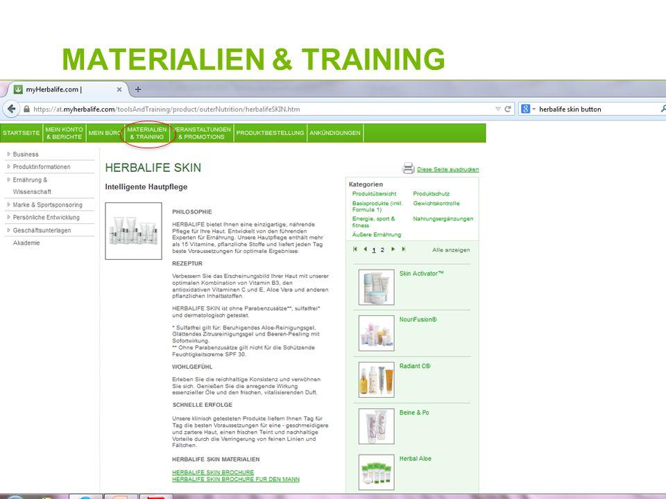 MATERIALIEN & TRAINING