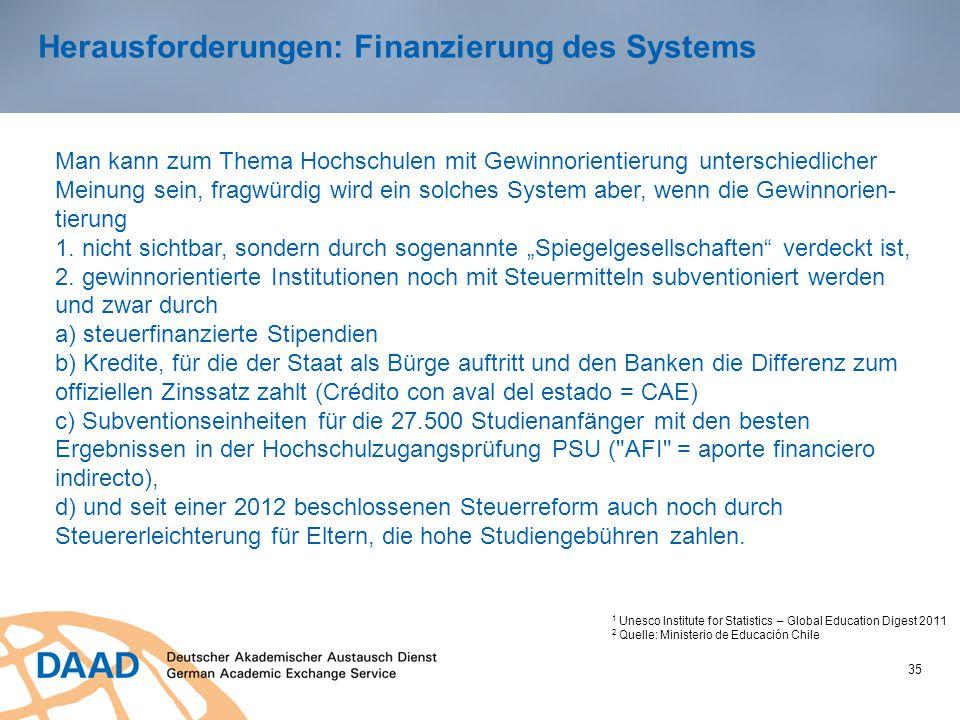 Herausforderungen: Finanzierung des Systems