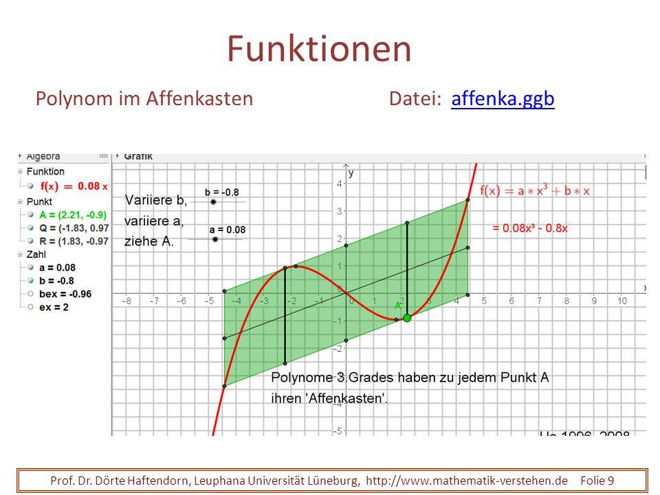 Funktionen Polynom im Affenkasten Datei: affenka.ggb