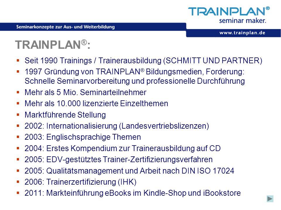 TRAINPLAN®: Seit 1990 Trainings / Trainerausbildung (SCHMITT UND PARTNER)
