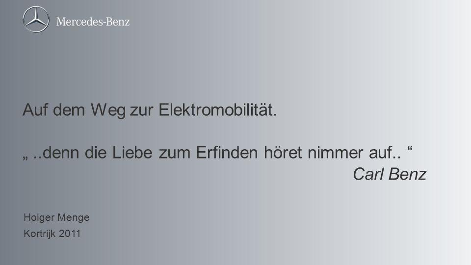 """Auf dem Weg zur Elektromobilität. """""""
