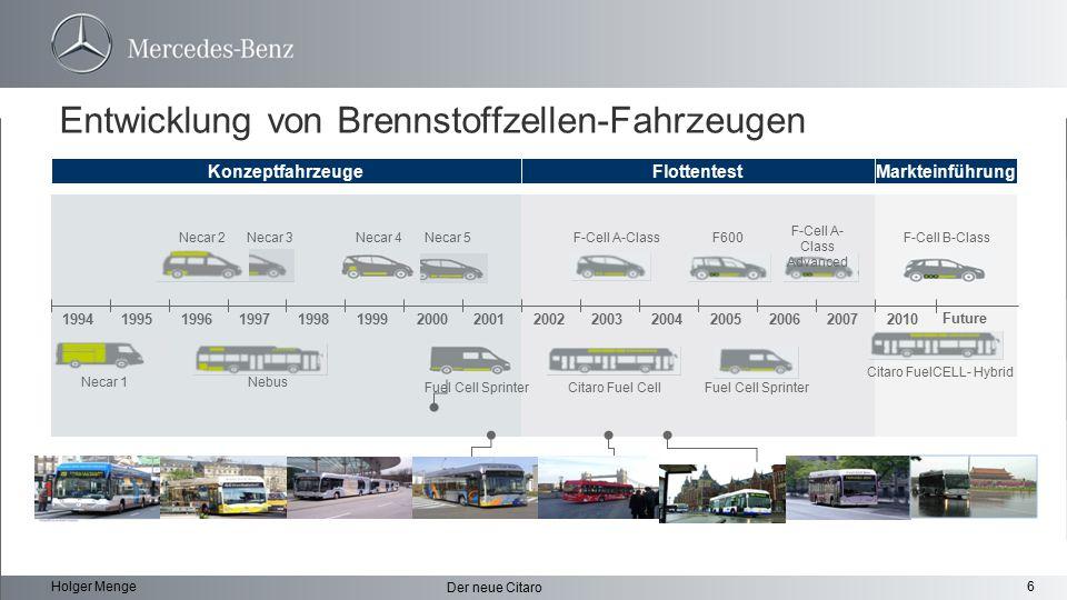 Entwicklung von Brennstoffzellen-Fahrzeugen
