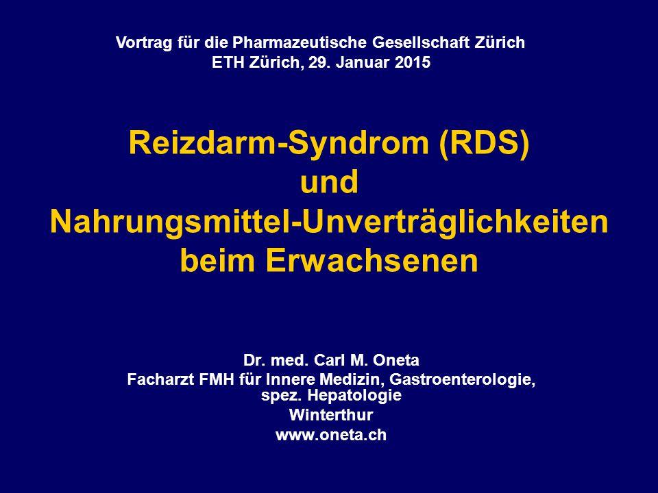 Vortrag für die Pharmazeutische Gesellschaft Zürich