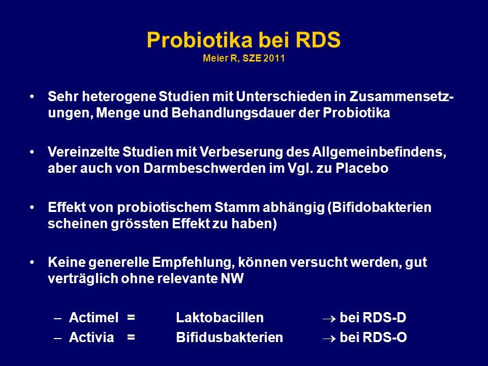 Probiotika bei RDS Meier R, SZE 2011
