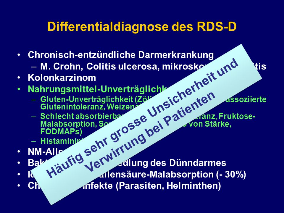 Differentialdiagnose des RDS-D