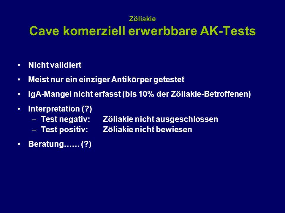 Zöliakie Cave komerziell erwerbbare AK-Tests