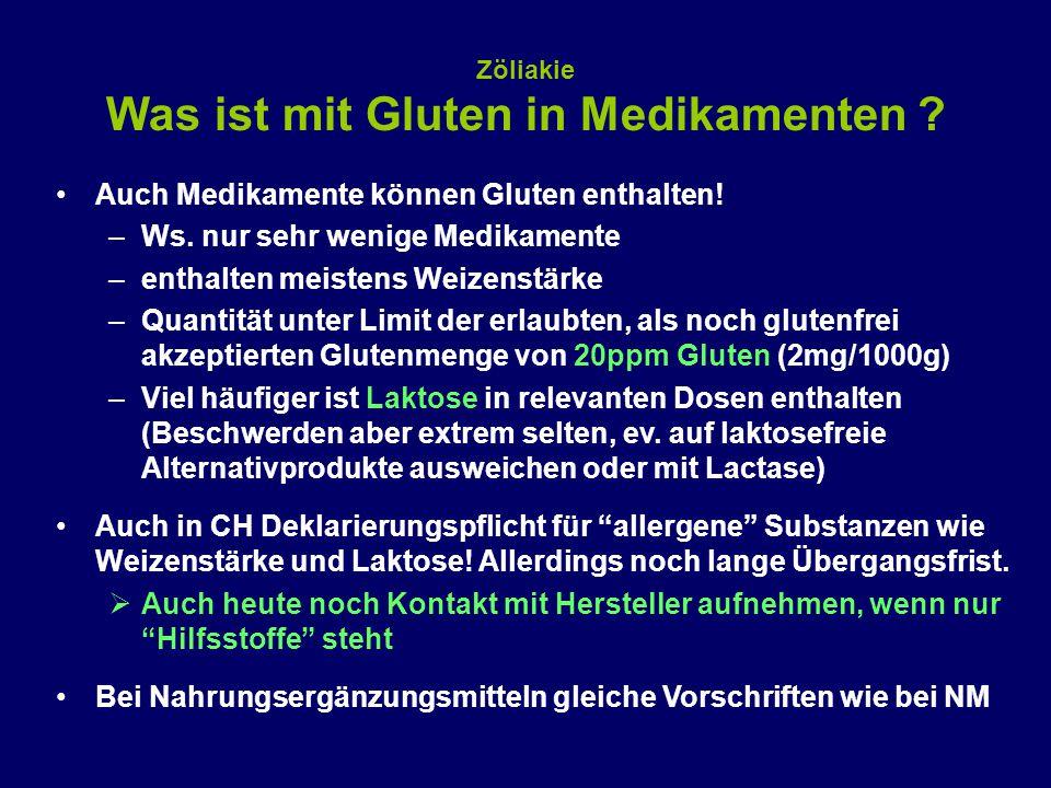 Zöliakie Was ist mit Gluten in Medikamenten