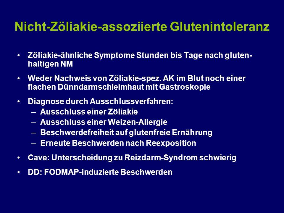 Nicht-Zöliakie-assoziierte Glutenintoleranz