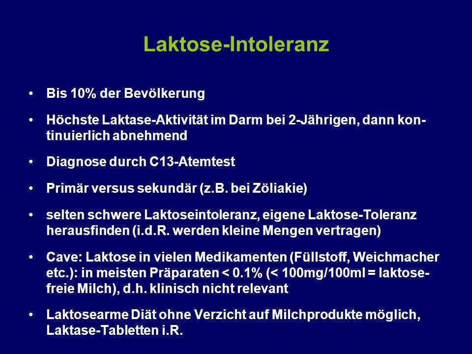 Laktose-Intoleranz Bis 10% der Bevölkerung