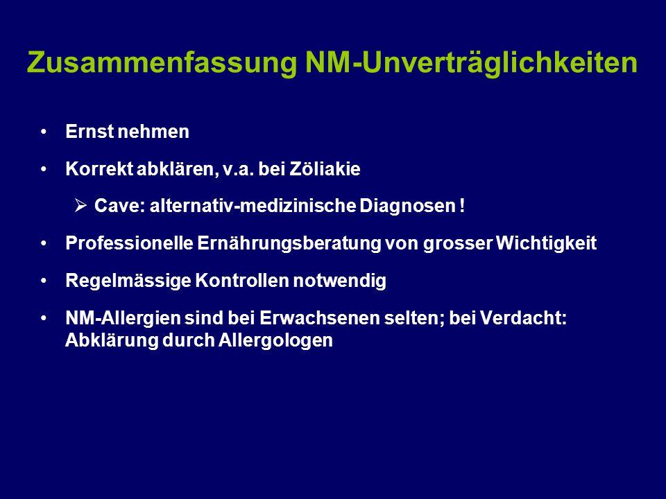 Zusammenfassung NM-Unverträglichkeiten