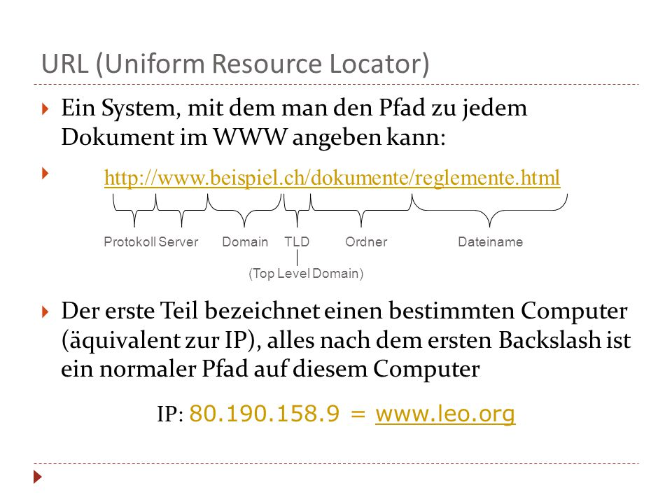 URL (Uniform Resource Locator)
