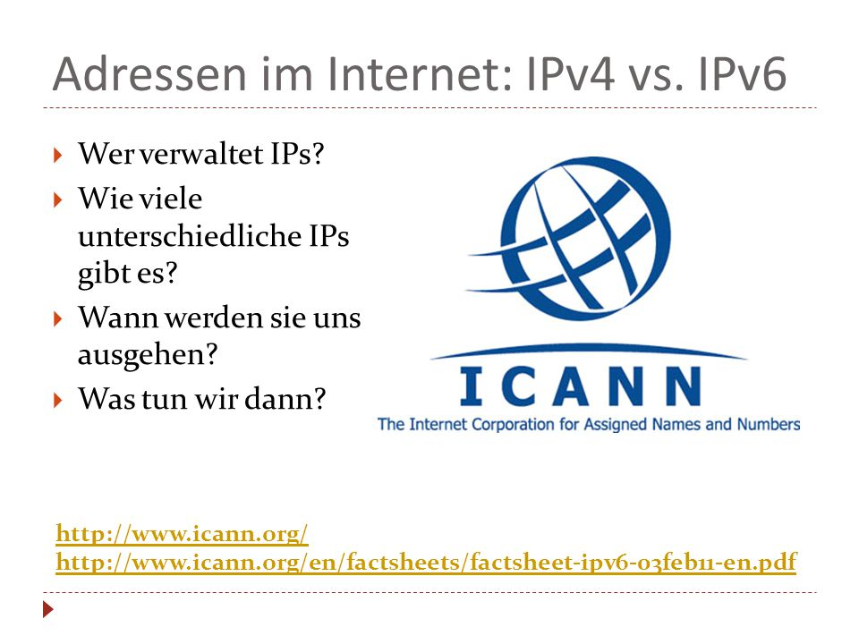 Adressen im Internet: IPv4 vs. IPv6