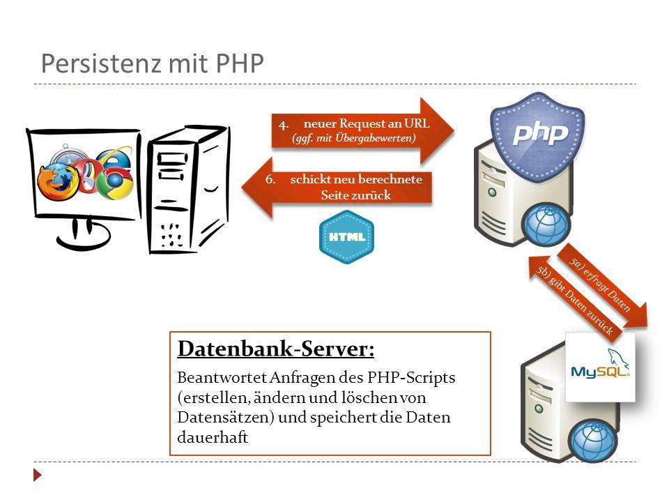 Persistenz mit PHP Datenbank-Server:
