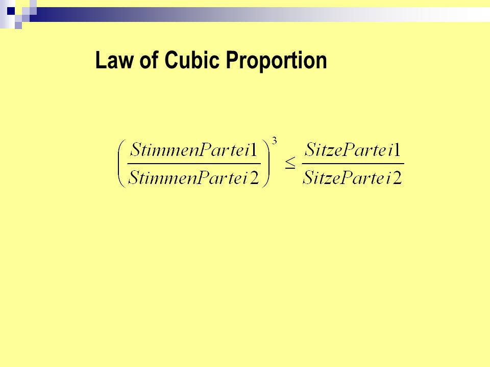Law of Cubic Proportion