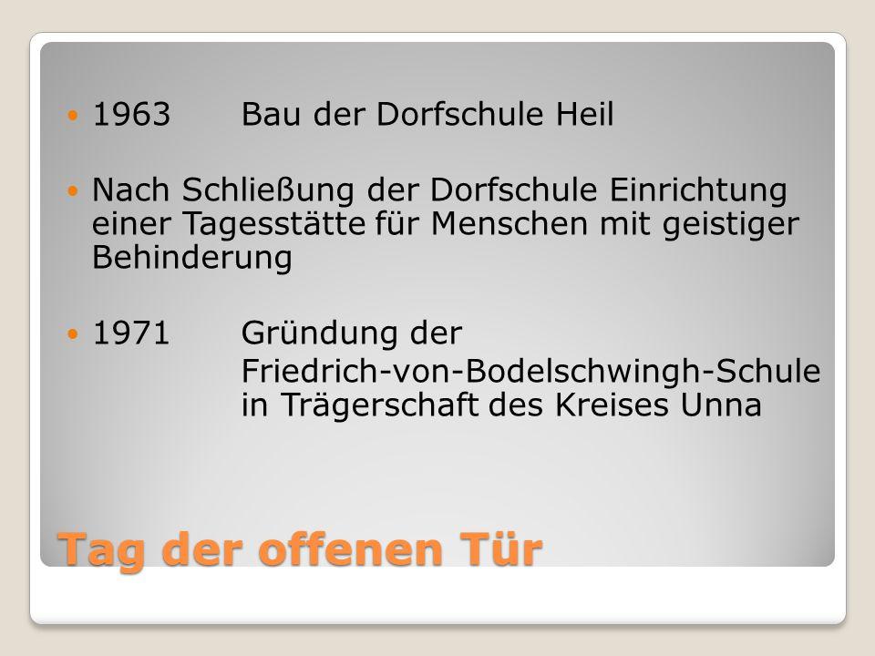 Tag der offenen Tür 1963 Bau der Dorfschule Heil