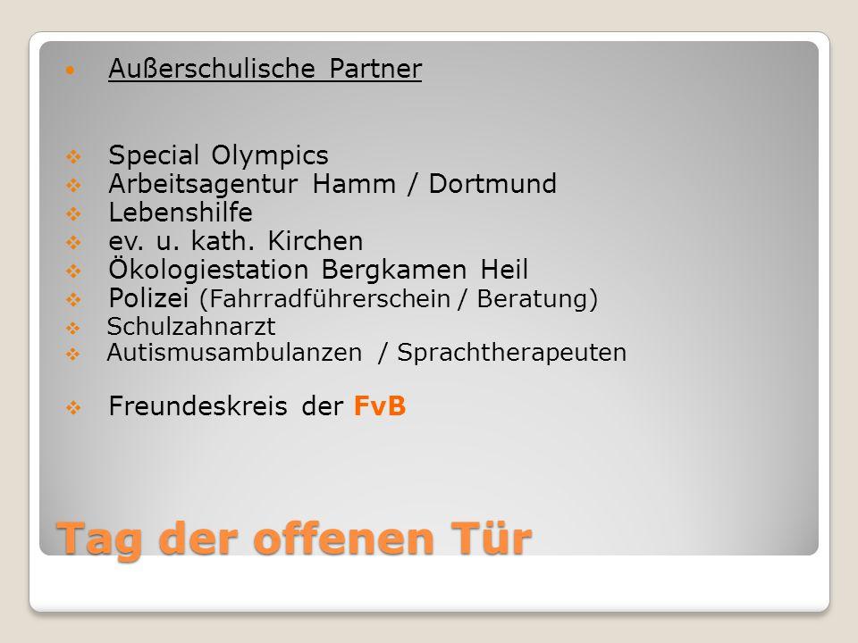 Tag der offenen Tür Außerschulische Partner Special Olympics