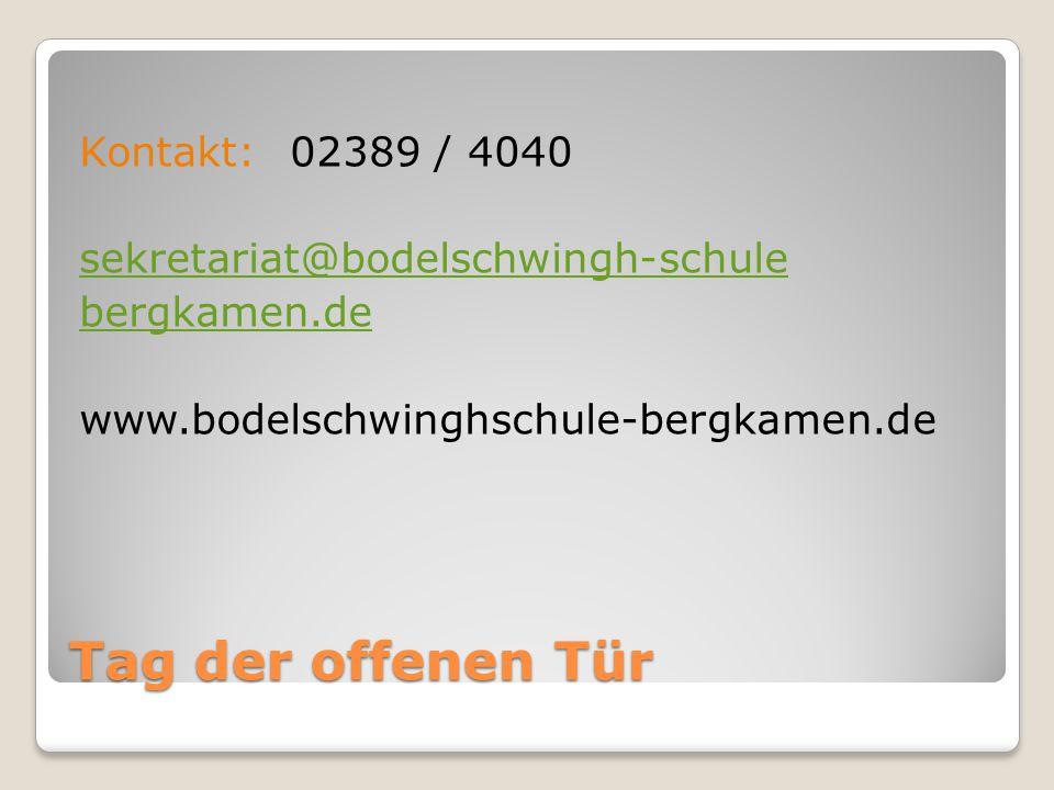 Kontakt: 02389 / 4040 sekretariat@bodelschwingh-schule bergkamen