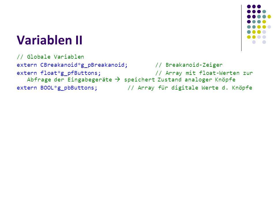 Variablen II // Globale Variablen