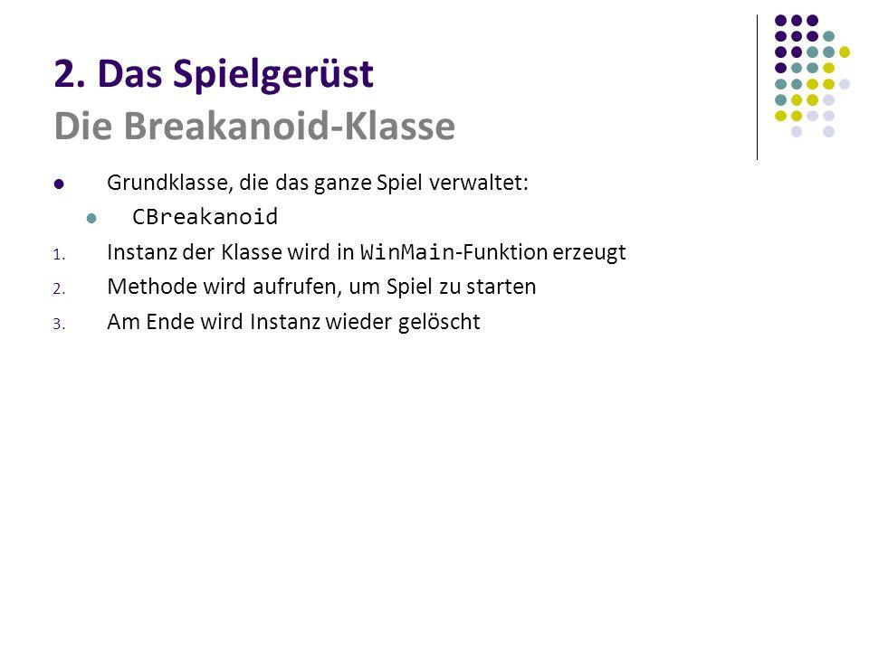 2. Das Spielgerüst Die Breakanoid-Klasse