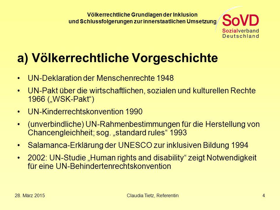 a) Völkerrechtliche Vorgeschichte