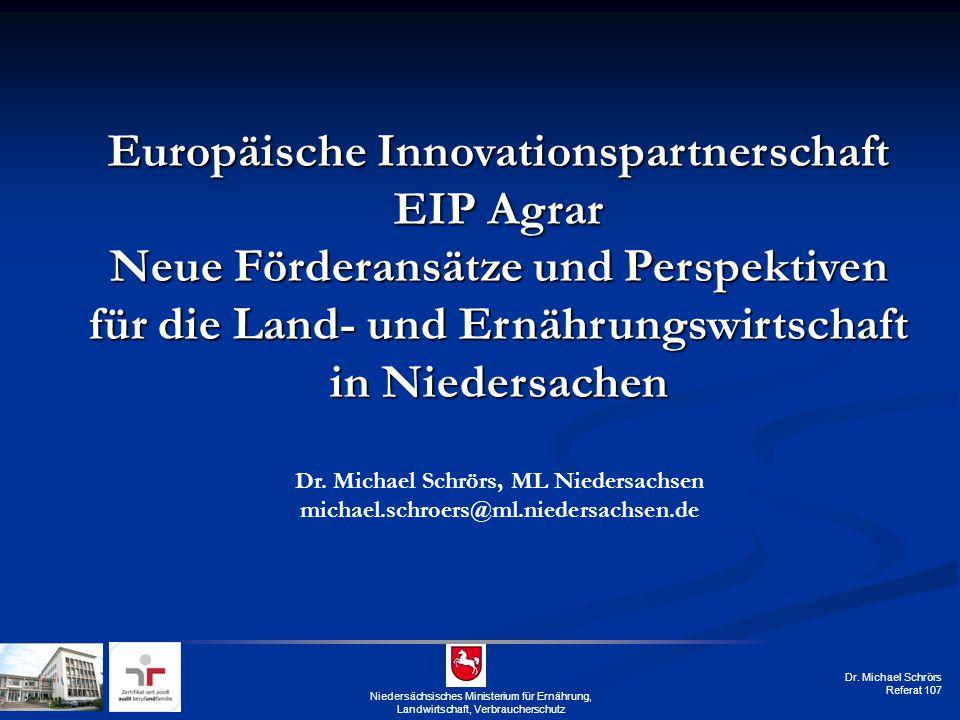 Dr. Michael Schrörs, ML Niedersachsen