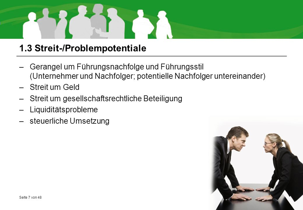 1.3 Streit-/Problempotentiale