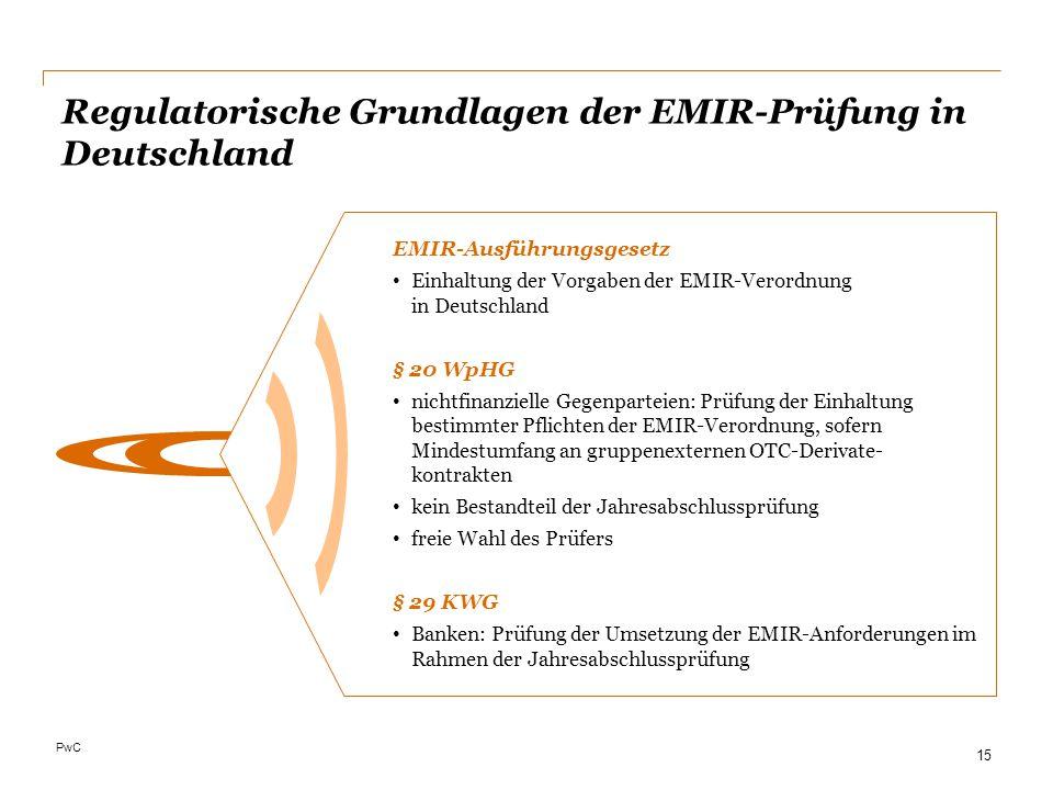 Regulatorische Grundlagen der EMIR-Prüfung in Deutschland