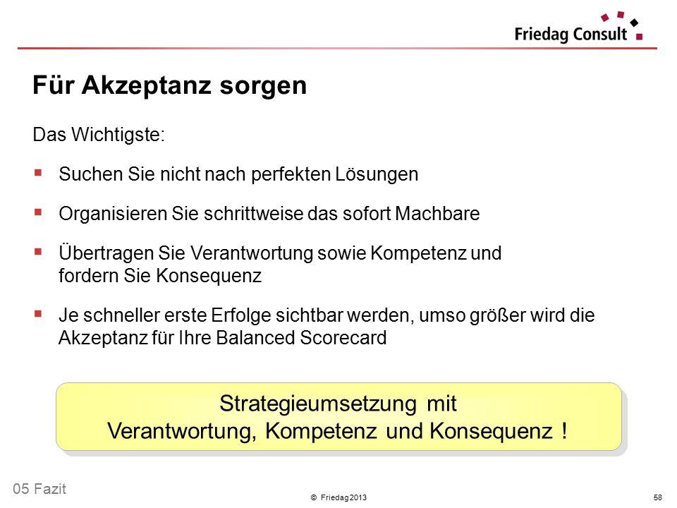 Strategieumsetzung mit Verantwortung, Kompetenz und Konsequenz !