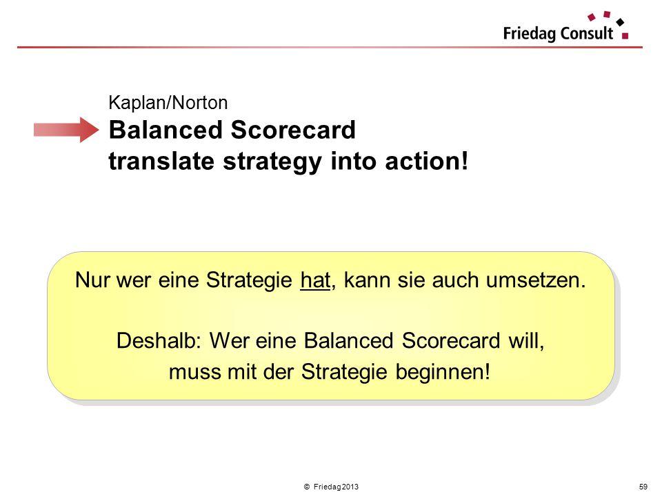 Nur wer eine Strategie hat, kann sie auch umsetzen.