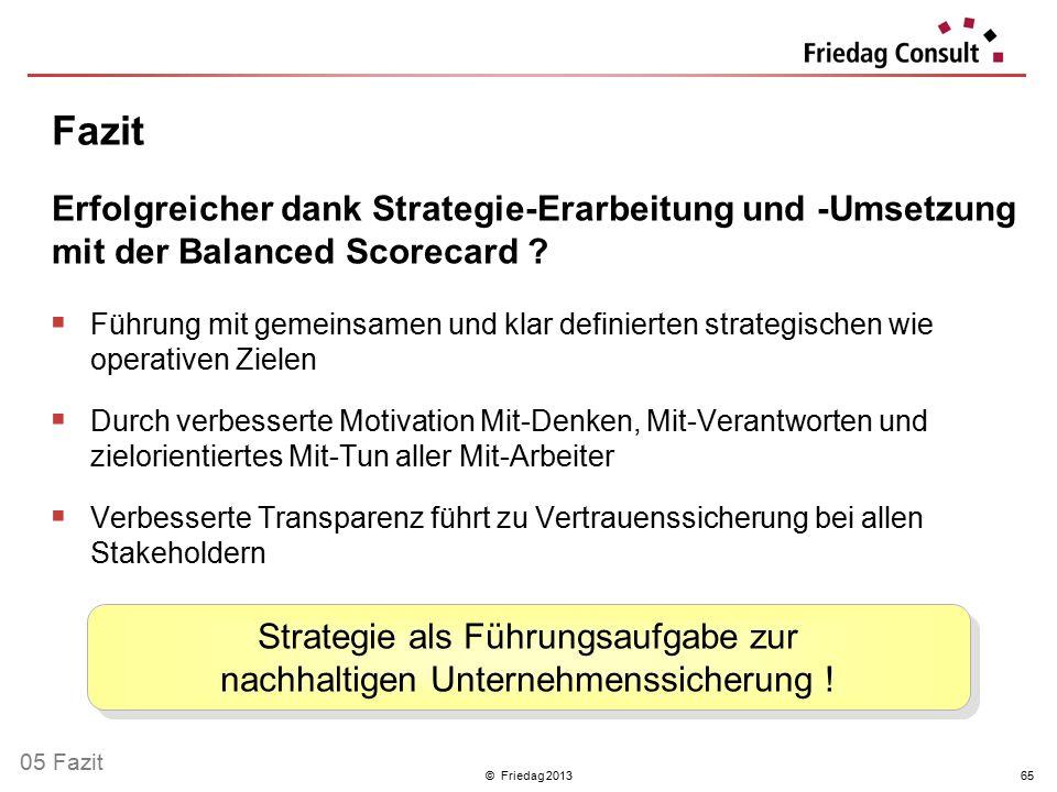 Strategie als Führungsaufgabe zur nachhaltigen Unternehmenssicherung !