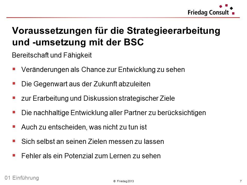 Voraussetzungen für die Strategieerarbeitung und -umsetzung mit der BSC