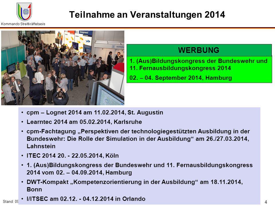 Teilnahme an Veranstaltungen 2014