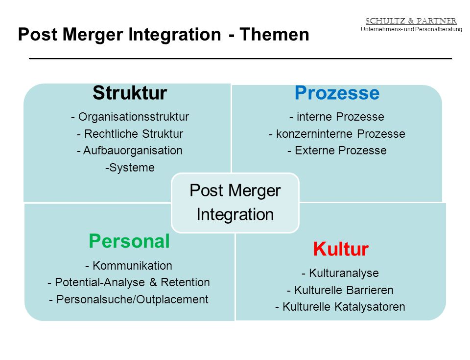 Post Merger Integration - Themen