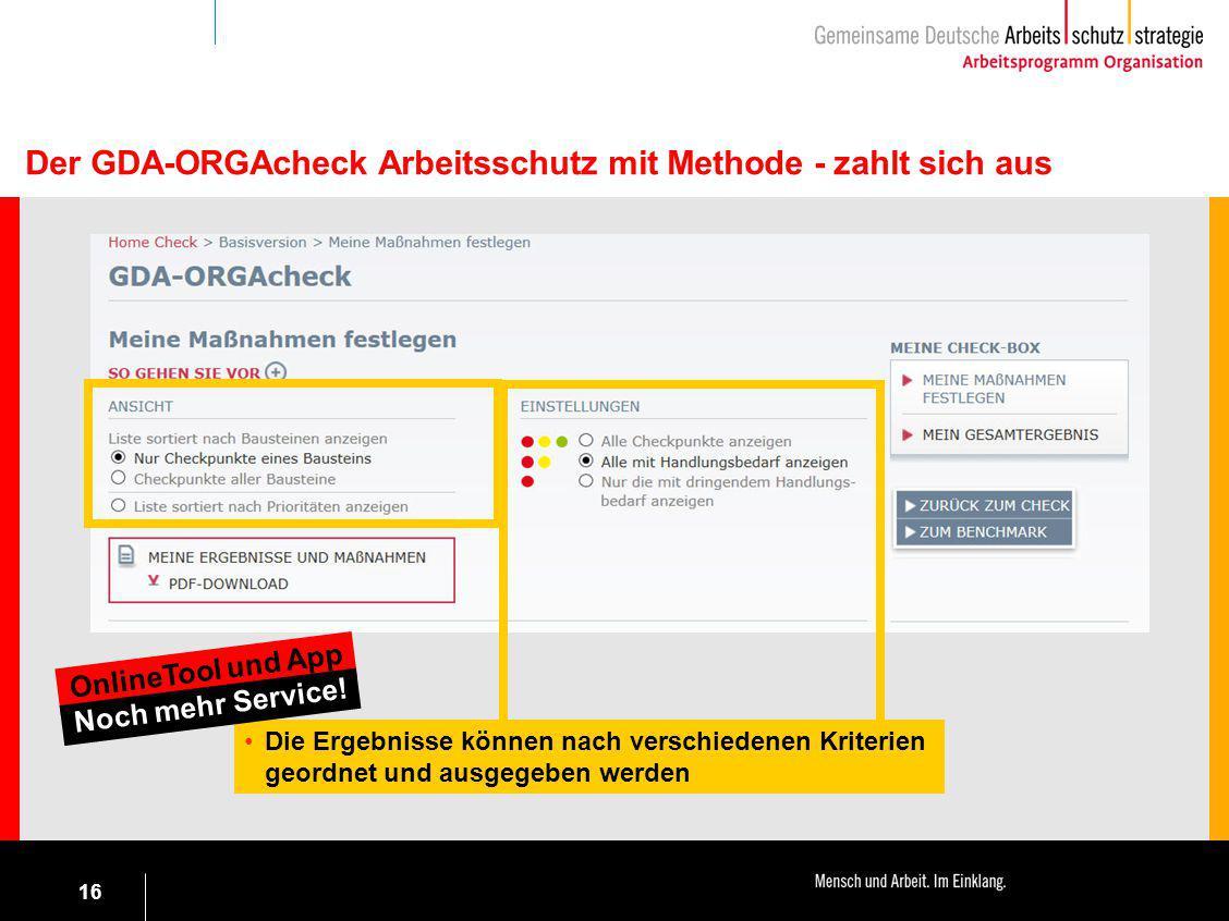 Der GDA-ORGAcheck Arbeitsschutz mit Methode - zahlt sich aus