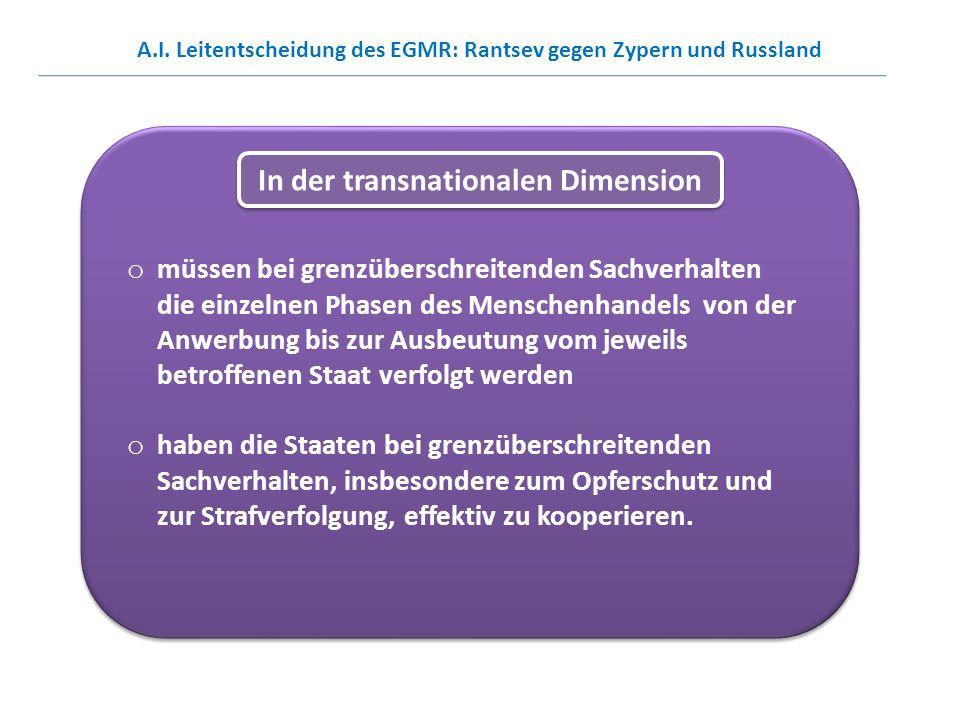 In der transnationalen Dimension