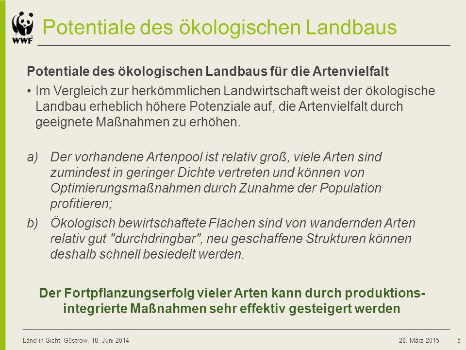 Potentiale des ökologischen Landbaus