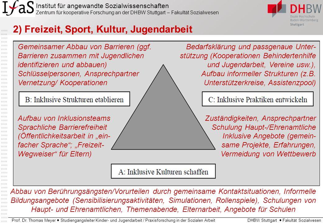 2) Freizeit, Sport, Kultur, Jugendarbeit