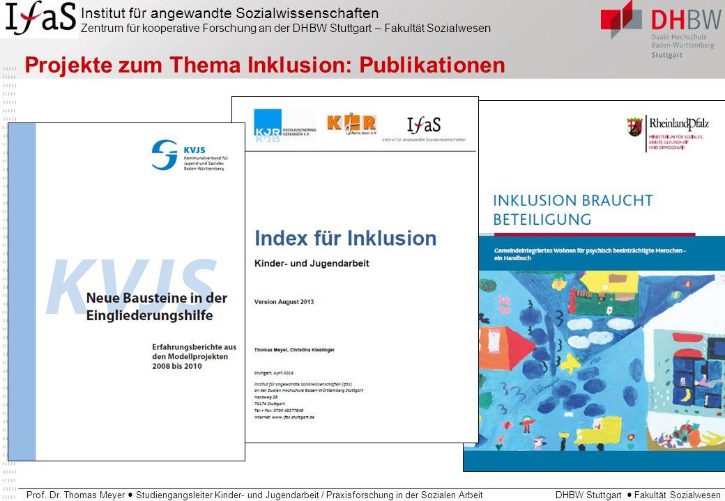 Projekte zum Thema Inklusion: Publikationen