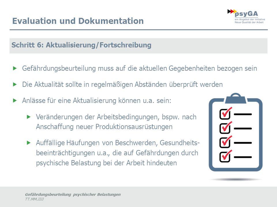 Evaluation und Dokumentation
