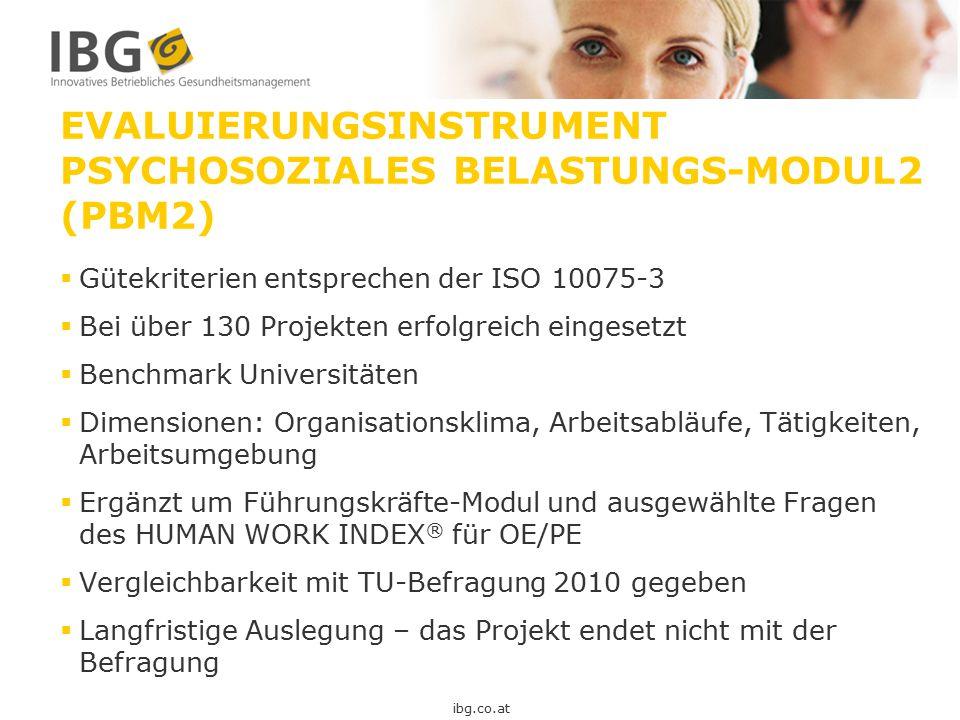 Evaluierungsinstrument Psychosoziales Belastungs-Modul2 (PBM2)