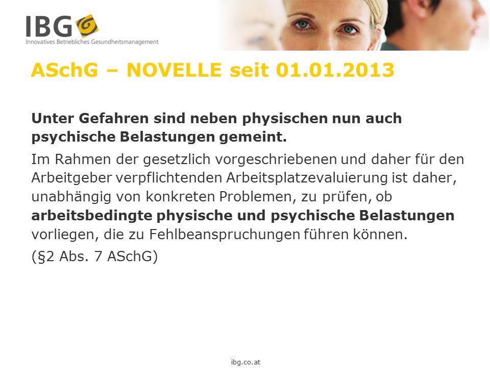 ASchG – NOVELLE seit 01.01.2013