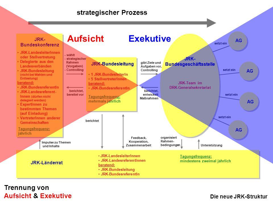 Aufsicht Exekutive strategischer Prozess Trennung von