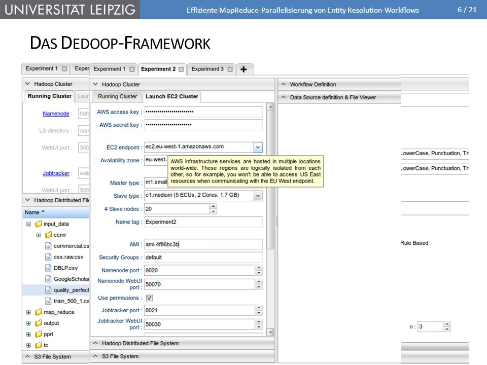 Das Dedoop-Framework Dedoop = Deduplication with Hadoop