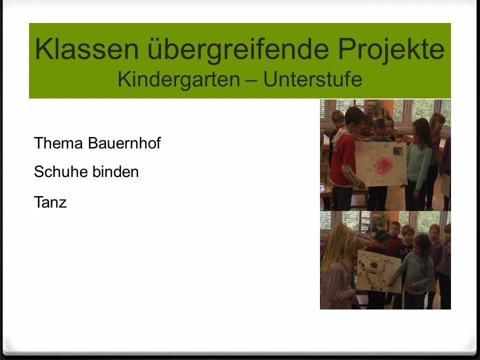 Klassen übergreifende Projekte Kindergarten – Unterstufe