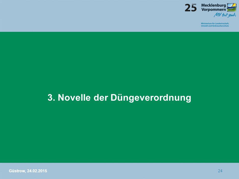3. Novelle der Düngeverordnung