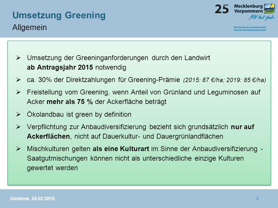 Umsetzung Greening Allgemein