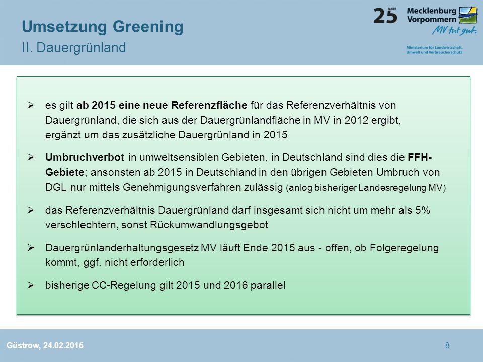Umsetzung Greening II. Dauergrünland