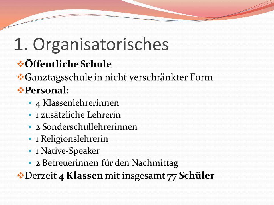 1. Organisatorisches Öffentliche Schule