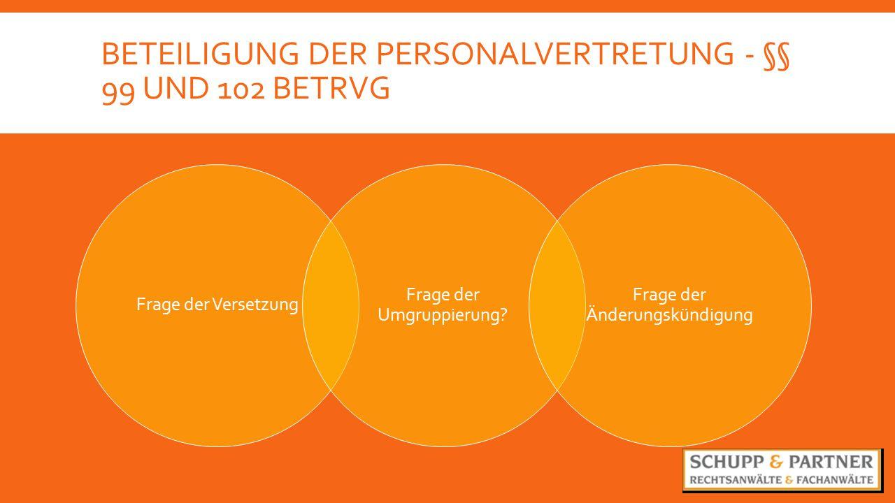 Beteiligung der Personalvertretung - §§ 99 und 102 BetrVg