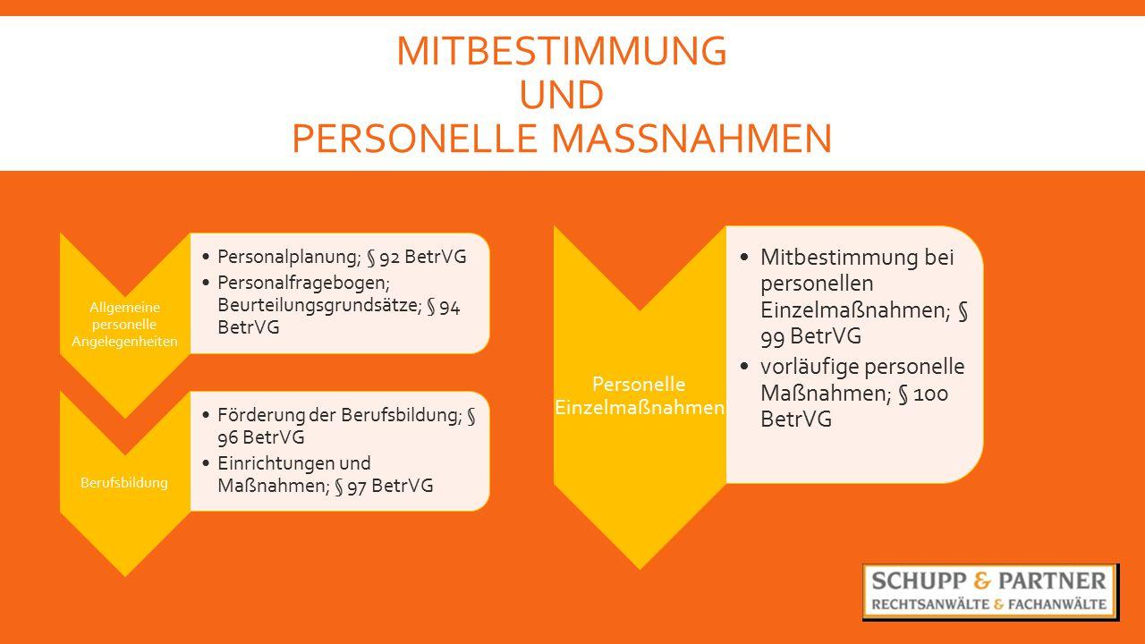 Mitbestimmung und PErsonelle MASSNAHMEN